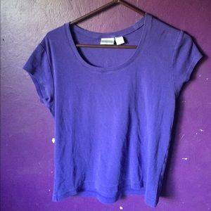 Blue Chico's Size 02 Shortsleeved Shirt